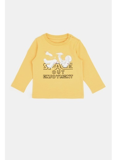 BG Baby Erkek Bebek Sarı T-Shirt 20Pfwbg1501 Sarı
